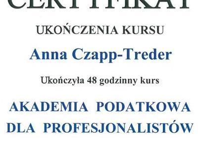Certyfikat akademii podatkowej