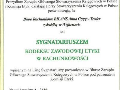 Certyfikat stowarzyszenia księgowych w Polsce